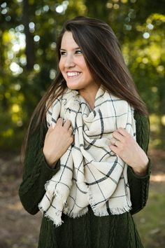 Instant Upgrade Ivory Scarf at reddressboutique.com