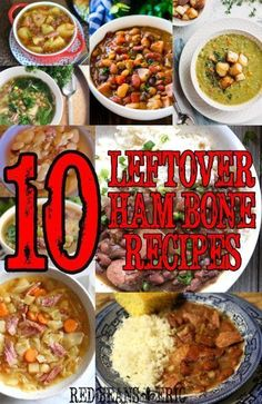 10 Great Recipes For a Leftover Ham Bone – Red Beans and Eric Crockpot Ham And Beans, Lima Beans And Ham, Crockpot Meals, Ham Bone Recipes, Leftover Ham Recipes, Leftover Ham Bone Recipe, Pork Recipes, Recipes Using Baked Beans