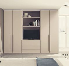 Our clean, minimalist functionality of contemporary furniture and kitchens design adding the perfect character to your home. Bedroom Wall Units, Bedroom Built Ins, Bedroom Cupboard Designs, Wardrobe Design Bedroom, Bedroom Cupboards, Tv In Bedroom, Master Bedroom Design, Closet Bedroom, Small Apartment Interior