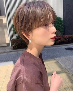 Pin on ヘアスタイル Girl Short Hair, Short Hair Cuts, Short Hair Styles, Short Hairstyles For Women, Easy Hairstyles, Girl Hairstyles, Korean Short Hair, Salon Style, Grow Out