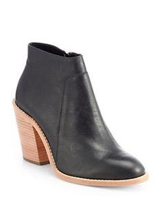 Loeffler Randall - Ella Leather Ankle Boots <br>