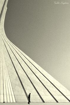 a part of Azadi Tower in Azadi Square, Tehran Wing of Freedom Persian Architecture, Architecture Design, Iran Today, Iran Pictures, Pahlavi Dynasty, Tehran Iran, Iranian Art, Historical Monuments, Beautiful Buildings