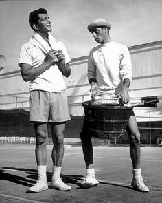 not friends i hear....love their movies  Dean Martin and Jerry Lewis, 1950.