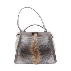 Borsa Peekaboo Bucket Bag, Fendi, Fur, Backpacks, Wallet, Shopping, Backpack, Feather, Purses