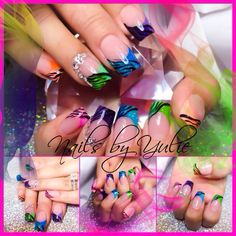 Zebra nail design. The rainbow nail design. My Famous zebralicious  is popular