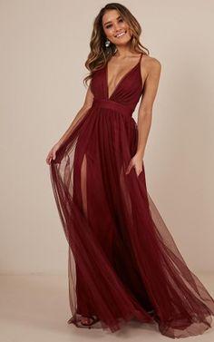 Celebrate Tonight Maxi Dress In Wine - Olivia Maxi Dresses Pretty Prom Dresses, Hoco Dresses, Modest Dresses, Ball Dresses, Homecoming Dresses, Cute Dresses, Bridesmaid Dresses, Stylish Outfits, Designer Dresses