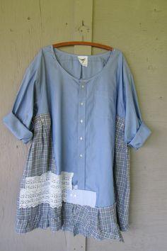 upcycled tunic dress oversize plus size 3 X by lillienoradrygoods