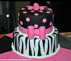 a bunch of hot pink and zebra striped cake ideas all in one spot. I want every stinkin one!