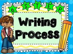 Super cute writing process posters for upper elementary!  FREEBIE!!!