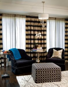#WatchandPin  The reupholstered chairs, after the transformation featured on #CandiceTellsAll  http://www.hgtv.com/candice-tells-all/show/index.html?soc=pinterest