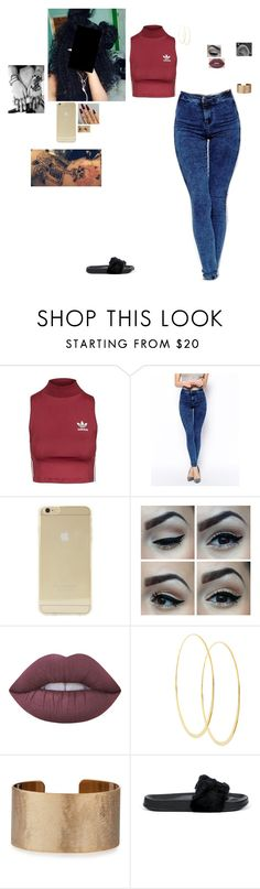 """""""Stargirl"""" by ohsnapitzchasy ❤ liked on Polyvore featuring Topshop, ASOS, Sonix, Lime Crime, Lana, Panacea and Puma"""