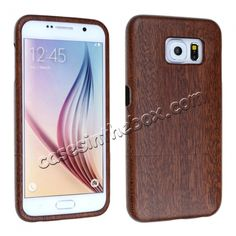 Natural Real Sapele Wood Wooden Hard Case Cover For Samsung Galaxy S6 US$18.99