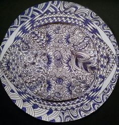 Black and Blue zentangle