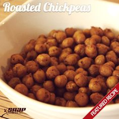 Roasted Chickpeas make a quick and healthy appetizer or snack!  This was good, but I think the cook time is too long. Next time I will bake for 15 minutes - shake - and then bake for another 15.