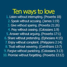10 ways to love.