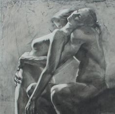 """Drawing of a Couple - """"Moment of Surrender"""" - Large Archival Fine Art Print Drawing Artist, Life Drawing, Figure Drawing, Moment Of Surrender, Art Sketches, Art Drawings, Black And White Drawing, Black White, Amor"""