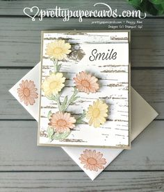 Daisy Lane and Birch Sneak Peek! - Pretty Paper Cards Daisy Lane and Birch Sneak Peek! Paper Cards, Diy Cards, Folded Cards, Daisy, Stampin Up Catalog, Stamping Up Cards, Diy For Girls, Creative Cards, Greeting Cards Handmade