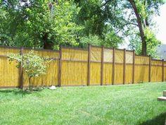 bamboo fence screening perth Small Fence, Front Yard Fence, Diy Fence, Fence Landscaping, Backyard Fences, Fence Ideas, Farm Fence, Fence Art, Garden Ideas