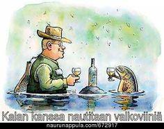 Valkoviiniä kalan kanssa