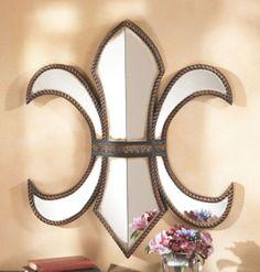 Large Fleur-de-lis Wall Mirror