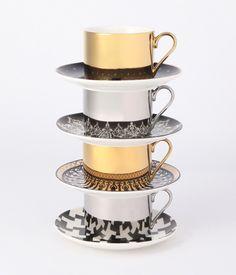 Francfranc(フランフラン)  【 PRODUCT FILE 】 FILE.008 MIROIR CUP & SAUCER(ミロワールカップ&ソーサー) ミラー反射を利用した、巧妙な仕掛け