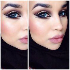Arabia//Bronze • Face: @makeupforeverofficial HD Foundation N127, @maybelline Eraser Dark Circles Neutralizer Treatment Concealer, @bennyemakeup Luxury Powder in Banana, @toofaced Chocolate Soleil Matte Bronzing Powder, @toofaced Something About Berry blush, @maccosmetics MSF Soft & Gentle Eyes: @maccosmetics Pro Longwear Paint Pot in Soft Ochre, @makeupgeekcosmetics eyeshadow in Peach Smoothie, Mocha and Corrupt, @maccosmetics Melon pigment, @maccosmetics Fluidline in Blacktrack…