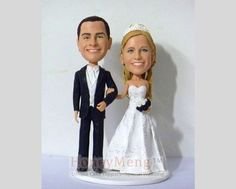 Buy Custom Wedding Cake Toppers by honeymeng. Explore more products on http://honeymeng.etsy.com