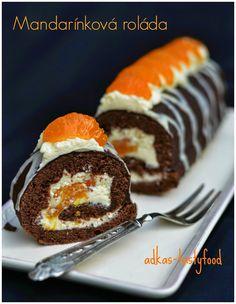 .. chute a vône mojej kuchyne...: Mandarínková roláda Albanian Recipes, Albanian Food, Cupcake Cakes, Cupcakes, Strudel, Baked Goods, Sushi, Muffin, Food And Drink