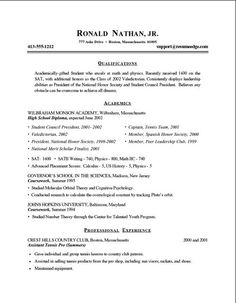 resume tips 2014 college students - Tips For A Resume