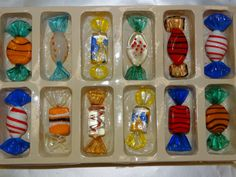 Vintage Glass Wrapped Candy Murano Glass Candy by TheIDconnection
