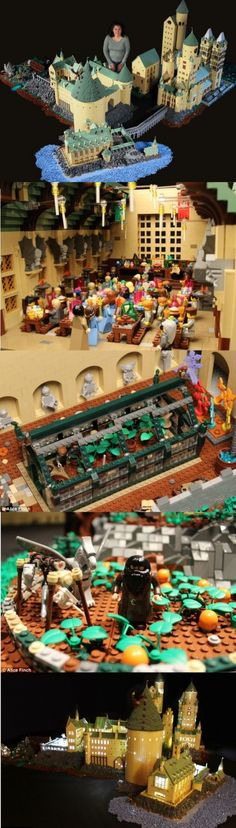 Hogwarts castle made from legos...I need this