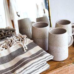 Hammam towels and mugs sitting pretty at local Vancouver shop via Adventure Awaits, Habitats, Vancouver, Towels, Mugs, Studio, Pretty, Shop, Ceramics