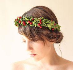 Holiday Hair Accessories Holly Christmas Band Mistletoe