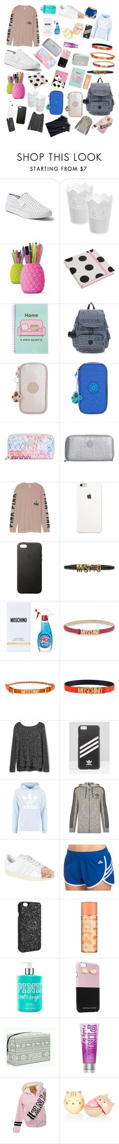 """""""Sin título #46"""" by fragolinapiu ❤ liked on Polyvore featuring beauty, Steve Madden, Caroline Gardner, Pusheen, Kipling, Victoria's Secret, Apple, Moschino, Gap and adidas"""