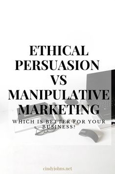 Ethical Persuasion VS Manipulative Marketing and How It Affects Your Business Bottom Line Digital Marketing Channels, Digital Marketing Strategy, Sales And Marketing, Business Marketing, Online Marketing, Social Media Marketing, Online Business, Marketing Ideas, Sales Techniques