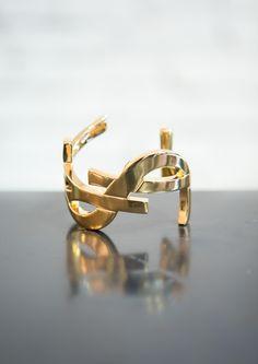 YSL Cuff...it just keeps getting better #accessories #YSL #YvesSaintLaurent