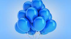 воздушные шары, праздник, торжество, синий