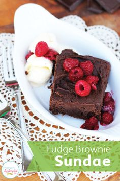 A Fudge Brownie Sundae is a simple yet festive dessert option this Valentine's Day. Smooth and decadent, these homemade bars are the way to anyone's heart. Go ahead and dig in!