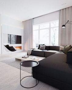 Modern Stylish Apartment Interior Design In A Simplicity - RooHome | Designs & Plans