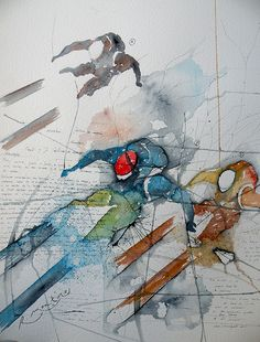 Tres esquiadores (Three skiers), by Ricardo Montoro