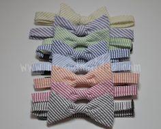Bowtie for Little Boys Seersucker Stripes.