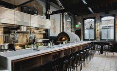 Martello Hall Hackney, London Bar / Restaurant / Co-Working Pizzeria Design, Pizza Restaurant, Restaurant Kitchen, Restaurant Ideas, Bali Restaurant, Wood Fired Oven, Wood Fired Pizza, Hotel California, Pizza Truck