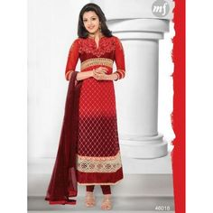Kajal Aggarwal Red Gerogette Salwar Suits At Girotra Store Opening - Buy Kajal Aggarwal Red Gerogette Salwar Suits Online at Best Prices in India | Vendorvilla.com at just Rs.2250/- on www.vendorvilla.com. Cash on Delivery, Easy Returns, Lowest Price.