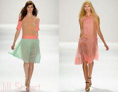 Spring 2012 pastel drop waist Jill Stuart