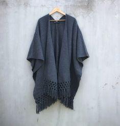 Poncho Luna Mexican Design, Boho, Kimono Top, Women, Products, Fashion, Ponchos, Fabrics, Oaxaca