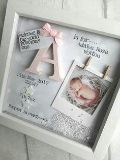 New Baby Gift Girl Gifts For Newborn 1st Birthday Goddaughter Niece Nursery Print Personalised Keepsake