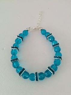 Ladies Blue Crystal Bracelet £5.99