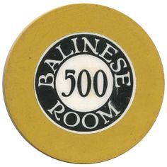 Crest & Seal poker chips - Balinese Room -  Galveston, TX