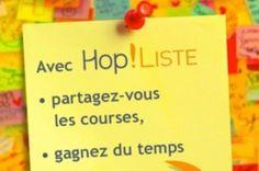 Hop! Liste remet la vieille liste de courses au goût du jour