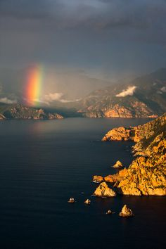 At the end of the Rainbow in Corsica, France.